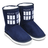 TARDIS Boot Slippers -