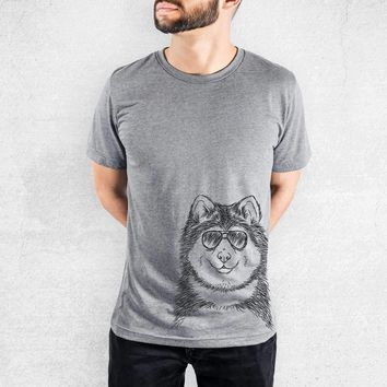 Loki the Malamute - Tri-Blend Unisex Crew Shirt