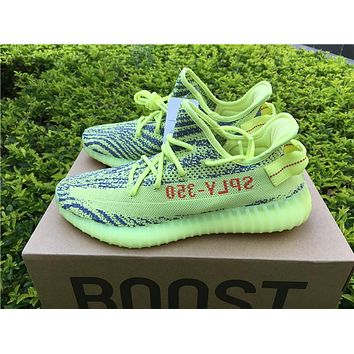 Best Online Sale Kanye West x Adidas Yeezy 350 V2 Boost Semi Frozen Yellow Sport Shoes