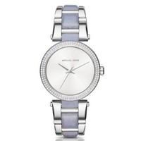 Delray Pavé Silver-Tone and Acetate Watch | Michael Kors