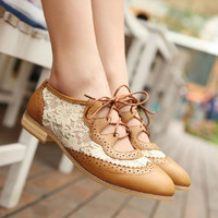 Lace shoes casual shoes A