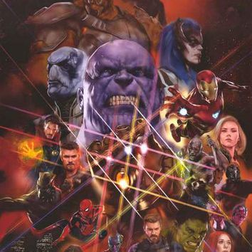Avengers: Infinity War Marvel Comics Movie Poster 22x34