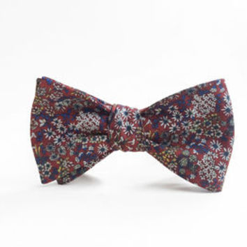 Olympia Floral Bow Tie
