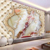 beibehang photo wall paper European imitation marble mural wallpapaer roll  bedroom 3d flooring mural wallpaper for living room