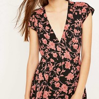 Kimchi Blue Anita Garden Vine Print Playsuit - Urban Outfitters