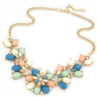 Gift Stylish Jewelry New Arrival Shiny Bohemia Metal Floral Necklace [6586423175]