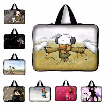 7.9 9.7 12 13.3 15.4 inch Indie Pop Girls Laptop Bag Notebook Smart Cover For ipad MacBook Sleeve Case 11.6 15.6 17.4 PC Handbag