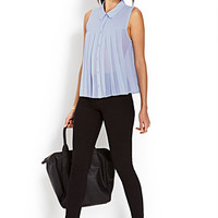 Sheer Box Pleated Shirt
