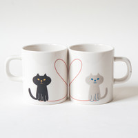 Miranda Cat Pair Mug Set