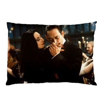 Morticia and Gomez Addams Pillow cases (set of 2)
