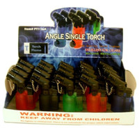 Lighter Angle Single Torch Assorted colors