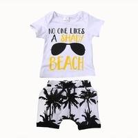 2PCS Toddler Kids Baby Boy Girl Clothes Set 2017 Summer Short Set