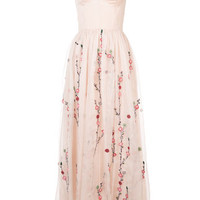 Adam Lippes Floral Embroidery Sheer Dress - Farfetch