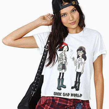 MDIGONEJ SICK SAD WORLD Print Daria & Quinn T Shirt