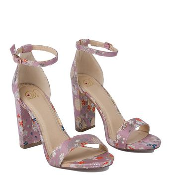 GIZA PRINT SINGLE STRAP HEELS - What's New