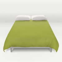 Barf Green Duvet Cover - 9fa91f - Twin, King Queen Size Duvet - Green Blanket - Green Duvet - Green Bedding