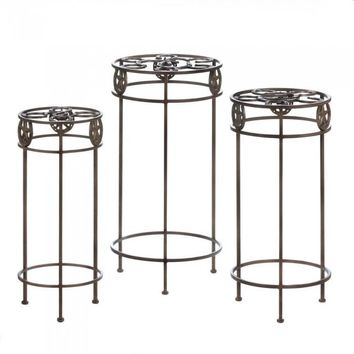 Lone Star Horeshoe Plant Stand Trio