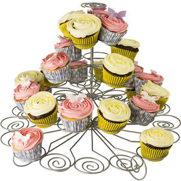 Metal Cupcake Holder Stand, 41 Cupcakes, 5 Tier, 14-inch