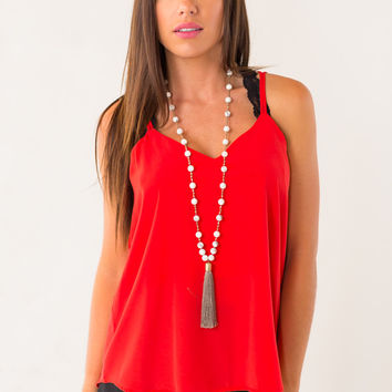 All Directions Top in Red