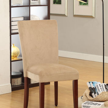 Tan Parsons Chair  (Set of 2)