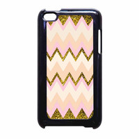 Gold Pink Chevron iPod Touch 4th Generation Case