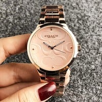 COACH New fashion dial pattern couple watch wristwatch