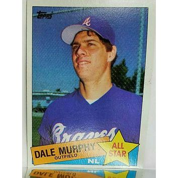1985 Topps #716 Dale Murphy ALL-STAR, Braves, Tough Card to Find, SET BREAK!!
