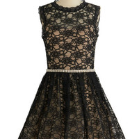ModCloth Sleeveless Fit & Flare Fanciful Affair Dress