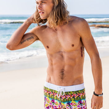 Sauvage Mens South Sea Tahiti Swim Trunks