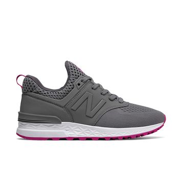 New Balance - Women's 574 Sport (WS574EMB) - Steel with Azalea