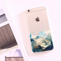 Nice Mountains Silicone iPhone 5s 6 6s Plus creative case Cover Gift-113