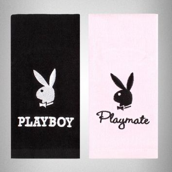 PLAYBOY 2 PC HIS/HER HAND TOWEL SET