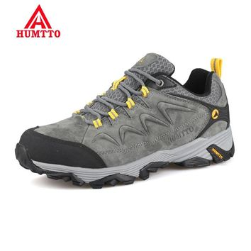 Promotion Winter Genuine Leather Hiking Shoes Lightwei Outdoor Trekking Boots Lace-up Climbing Mens Sneakers Men Male Walking