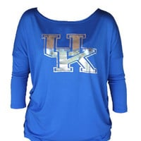 Kentucky Wildcats Womens Royal Lucy Long Sleeve Women's Scoop