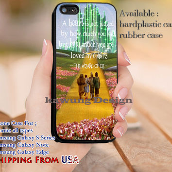 A Heart The Wizard of Oz Quotes iPhone 6s 6 6s+ 5c 5s Cases Samsung Galaxy s5 s6 Edge+ NOTE 5 4 3 #movie #TheWizardOfOz dl13