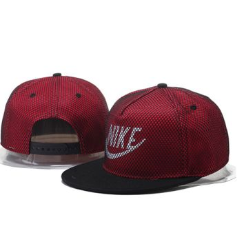e37a2468931 Retro Wine Nike Hook Embroidered Mesh Adjustable Outdoor Baseball Cap Hats