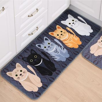 Autumn Fall welcome door mat doormat Direct Living Room Door Foot Pad Bathroom Anti-slip  Floor Mat Cartoon Bathroom  Kitchen Foot Bedroom Carpet AT_76_7