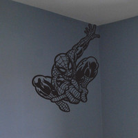 SpidermanSuperman wall decal boys room decor by Otrengraving
