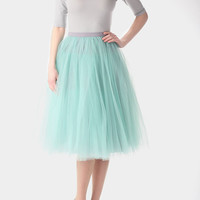 Mint tulle skirt, carrie bradshaw inspired tutu, sex and the city tutu skirt, mint petticoat, tulle skirt