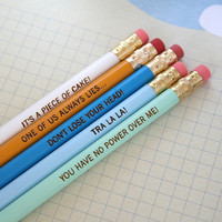 labyrinth pencil set of 5 cannot be by thecarboncrusader on Etsy