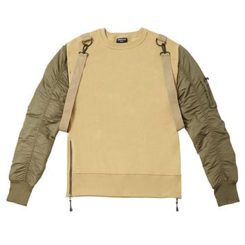 B13 Flight Bomber Sweater - Beige/Olive
