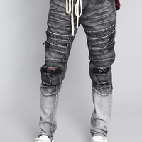 Distressed Dip Dyed Denim Jeans DL1247 - F17G