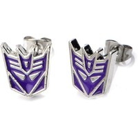 Officially Licensed Hasbro Transformers Body Jewelry Stud Earrings with Surgical Steel Post with Decepticon Design - Walmart.com