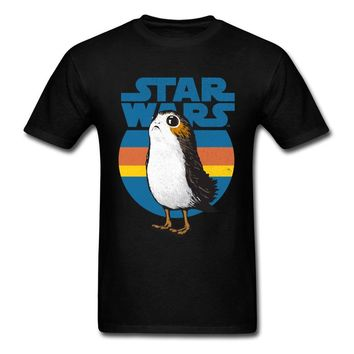 Star Wars Force Episode 1 2 3 4 5  Porg T Shirt Retro Logo 80's Gamer Tshirt Interesting Funny Design T-Shirt Full Cotton Brand New Fashion Men Tee Shirt AT_72_6