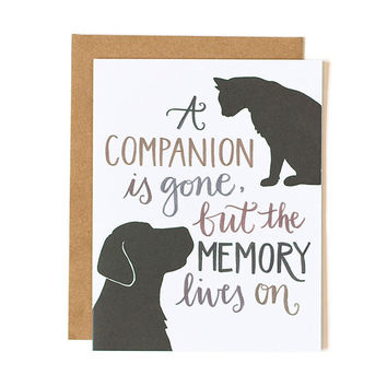 ONE CANOE TWO PET SYMPATHY CARD