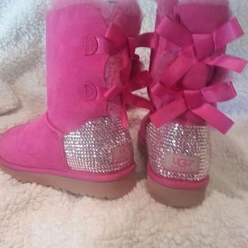 Womens Swarovski Crystal Bailey Bow Ugg