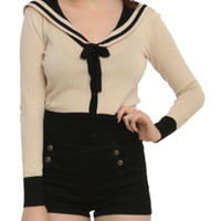 Jawbreaker Black & Beige Sailor Cardigan