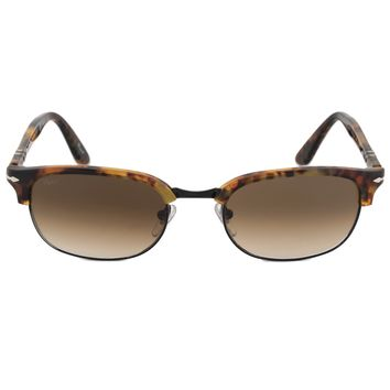 Persol Rectangle Sunglasses PO8139S 108 51 52 | Tortoiseshell Frame | Brown Gradient Lenses