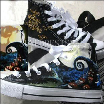 6da627b4dd941f Converse Custom sneakers canvas shoes  The Nightmare Before Christmas hand  painted Hal