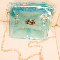 glitter jelly transparent purse (5 colors) from WhipCreamLove